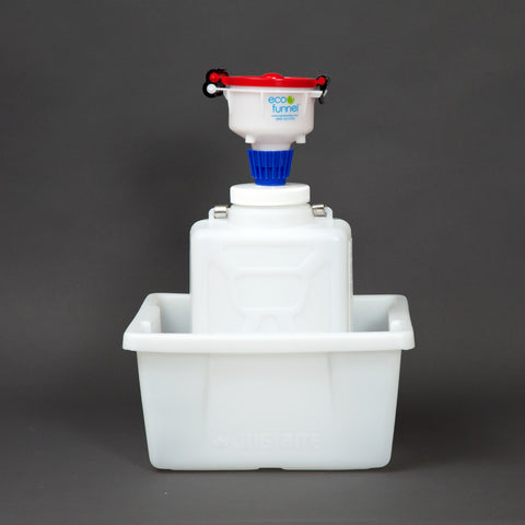"4"" ECO Funnel System, 9 Liter, 100mm, Secondary Container - SolventWaste.com"