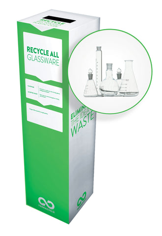 Zero Waste Recycling Box, Glassware - Large - SolventWaste.com