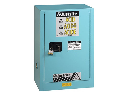 Sure-Grip® EX Corrosives/Acid Stl Safety Cabinet, Cap. 45 gal., 2 shelves, 1 bi-fold s/c door - SolventWaste.com