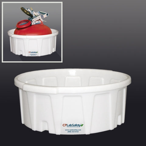 Secondary container for Justrite 2 gallon (15.5L) Justrite Gas Can - SolventWaste.com