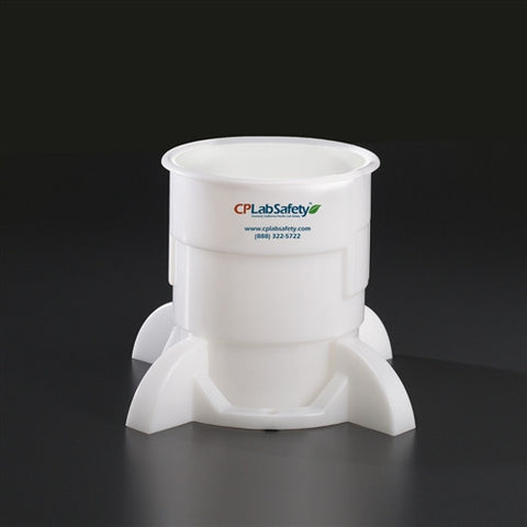Secondary container and base for 2 Liter Bottle, LDPE - SolventWaste.com