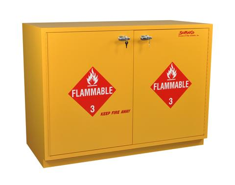 "Under-the-Counter, Flammables Cabinet, 35"", Self-Closing Doors - SolventWaste.com"