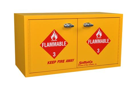 Mini Stak-a-Cab™ Flammables Cabinet with Self-Closing Doors - SolventWaste.com