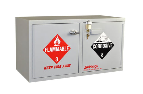 Mini Stak-a-Cab™ Combination Acid/Flammables Cabinet - SolventWaste.com