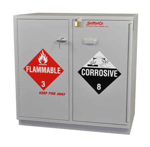 Under-the-Counter, Combination Acid/Flammables Cabinet, Partially Lined, 47""