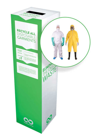 Zero Waste Recycling Box, Disposable Garments - Small - SolventWaste.com