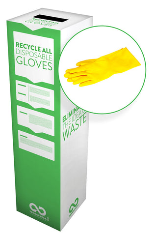 Zero Waste Recycling Box, Disposable Gloves - Medium - SolventWaste.com