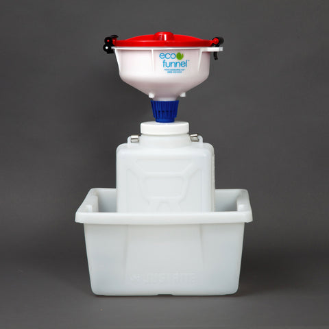 "8"" ECO Funnel System, 9 Liter, 100mm, Secondary Container - SolventWaste.com"