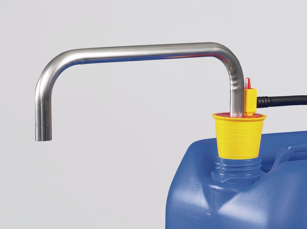 OTAL foot pump V2A, tube Ø 18 mm, pump cap.26l/min - SolventWaste.com