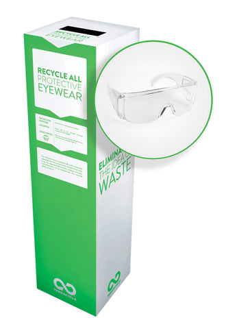 Zero Waste Recycling Box, Protective Eyewear - Medium - SolventWaste.com