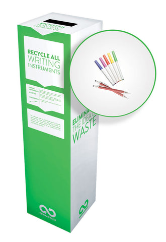 Zero Waste Recycling Box, Pens, Pencils and Markers - Medium - SolventWaste.com
