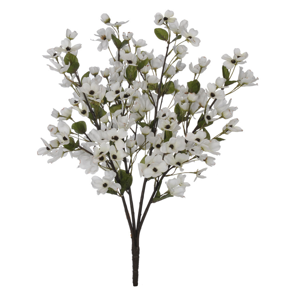 "Artificial 24"" Cream Dogwood Bush - House of Silk Flowers®"
