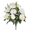 "Artificial 22"" Peony/Marigold/Daisy Bush - House of Silk Flowers®  - 2"