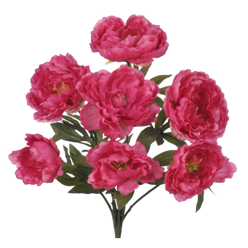 "Artificial 20"" Pink Peony Bush - House of Silk Flowers®"