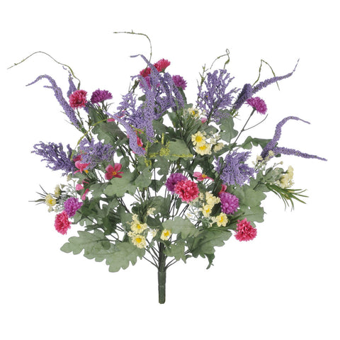 "Artificial 22"" Mini Mum Garden Bush - House of Silk Flowers®  - 2"