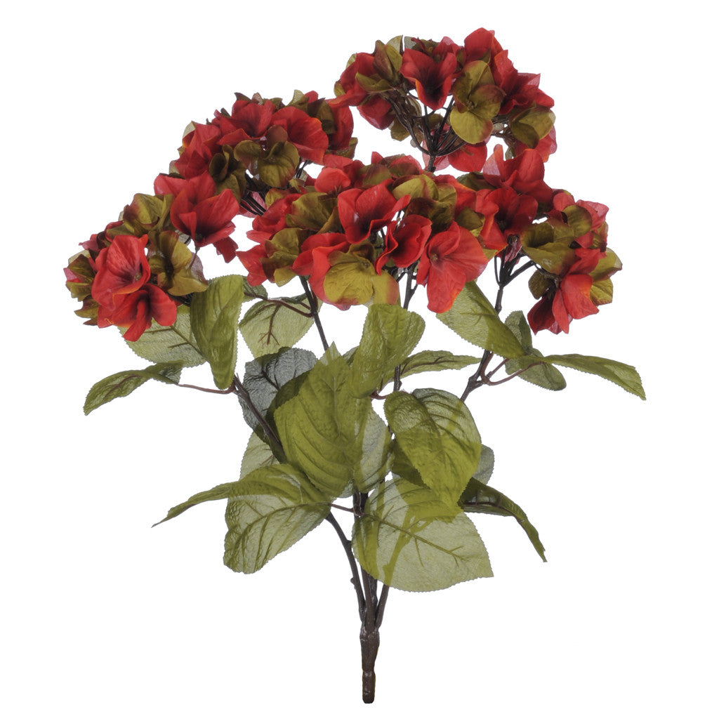 "Artificial 21"" Hydrangea Bush - House of Silk Flowers®  - 3"