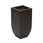 Matte Brown Zinc Planter