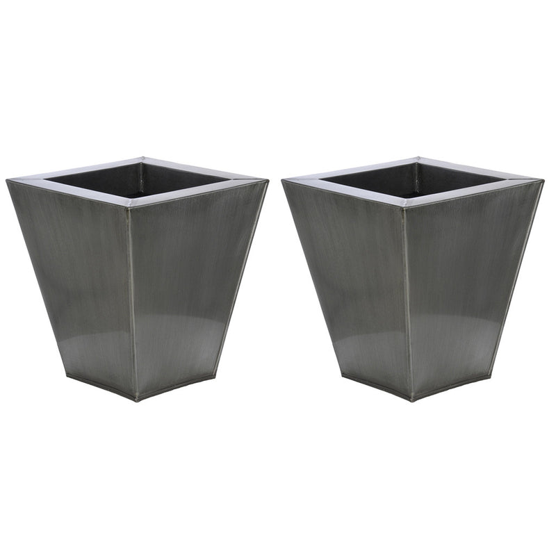 Square Small Zinc Vase - Set of 2