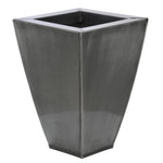 Tapered Square Small Zinc Vase - Set of 2 - House of Silk Flowers®  - 8