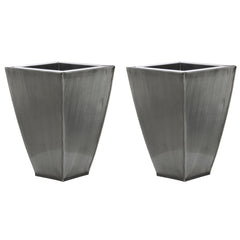 Tapered Square Small Zinc Vase - Set of 2