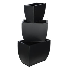 Rectangle Zinc Vase (3 Sizes) - Set of 6 Vases - House of Silk Flowers®  - 4