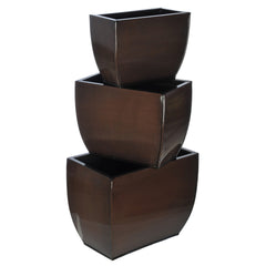 Rectangle Zinc Vase (3 Sizes) - Set of 6 Vases - House of Silk Flowers®  - 8