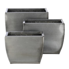 Rectangle Zinc Vase (3 Sizes) - Set of 6 Vases - House of Silk Flowers®  - 9