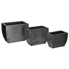 Rectangle Zinc Vase (3 Sizes) - Set of 6 Vases - House of Silk Flowers®  - 10