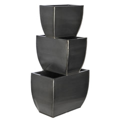 Rectangle Zinc Vase (3 Sizes) - Set of 6 Vases - House of Silk Flowers®  - 12