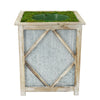White Diamond Wood/Metal Planter