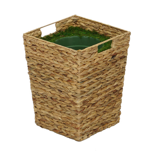 Large Tapered Water Hyacinth Basket Planter Pot-in-a-Pot