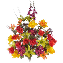 "Artificial 30"" Lily/Rose/Daisy/Hydrangea Bush - House of Silk Flowers®  - 3"