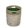 White Seagrass/Water Hyacinth Basket