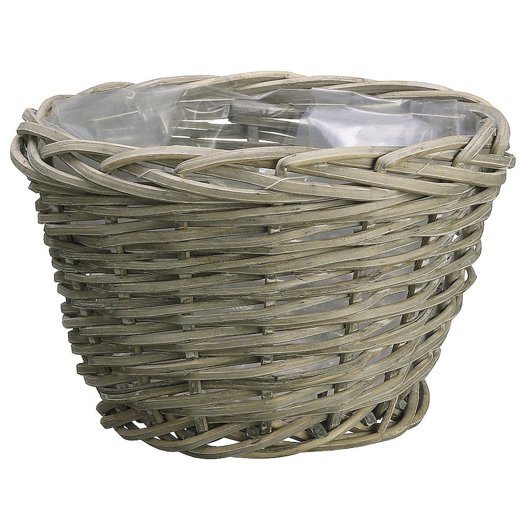 "Gray 7"" Wicker Basket - House of Silk Flowers®"