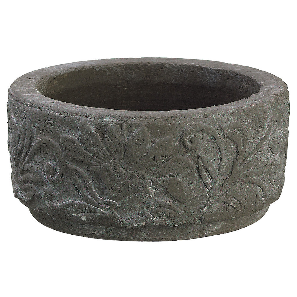 "Taupe 2.75"" Cement Vase/Planter - House of Silk Flowers®"