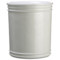 "White 15.5"" Polyresin Vase/Planter - House of Silk Flowers®"
