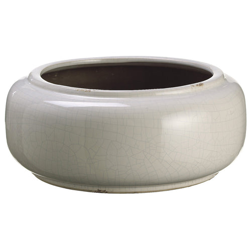 "Cream 5"" Stoneware Vase/Planter - House of Silk Flowers®"