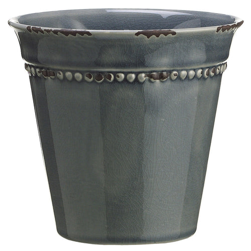 "Dark Teal 5.5"" Ceramic Vase/Planter - House of Silk Flowers®"