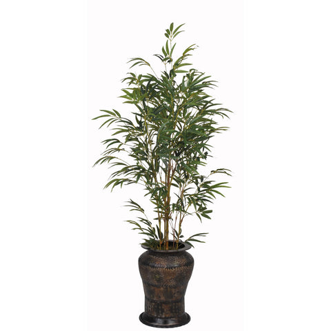 Artificial 5ft Yellow Bamboo in Planter - House of Silk Flowers®  - 7