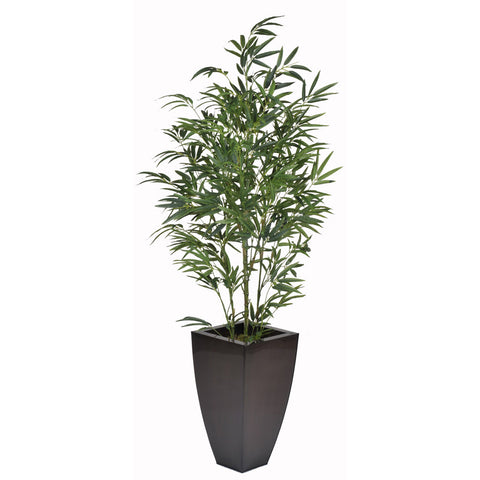 Artificial 5-foot Green Bamboo in Planter