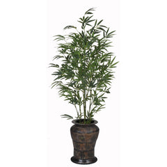 Artificial 5ft Green Bamboo in Planter - House of Silk Flowers®  - 7