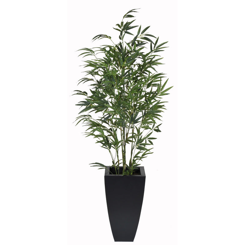 Artificial 5ft Green Bamboo in Planter - House of Silk Flowers®  - 1