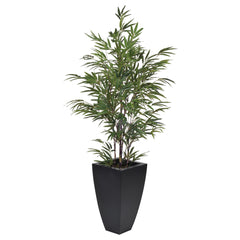 Artificial 5ft Black Bamboo in Planter - House of Silk Flowers®  - 1