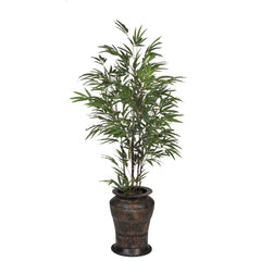 Artificial 5ft Black Bamboo in Planter - House of Silk Flowers®  - 5