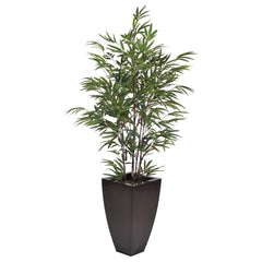 Artificial 5ft Black Bamboo in Planter - House of Silk Flowers®  - 6