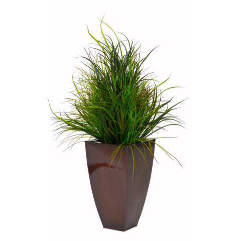 Artificial Grasses in Zinc Planter - House of Silk Flowers®