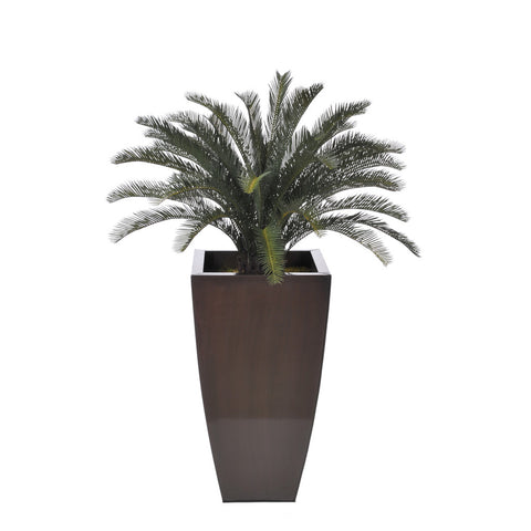 Artificial Sago Palm in Zinc Vase