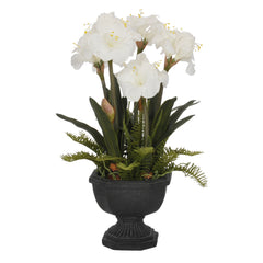 Artificial Amaryllis in Fiberglass Garden Urn - House of Silk Flowers®  - 3