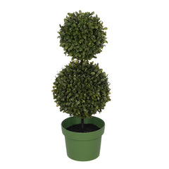 Artificial 19-inch Double Ball Boxwood Topiary House of Silk Flowers ®