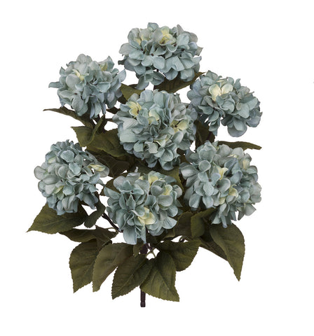 Artificial 20-inch Hydrangea Bush